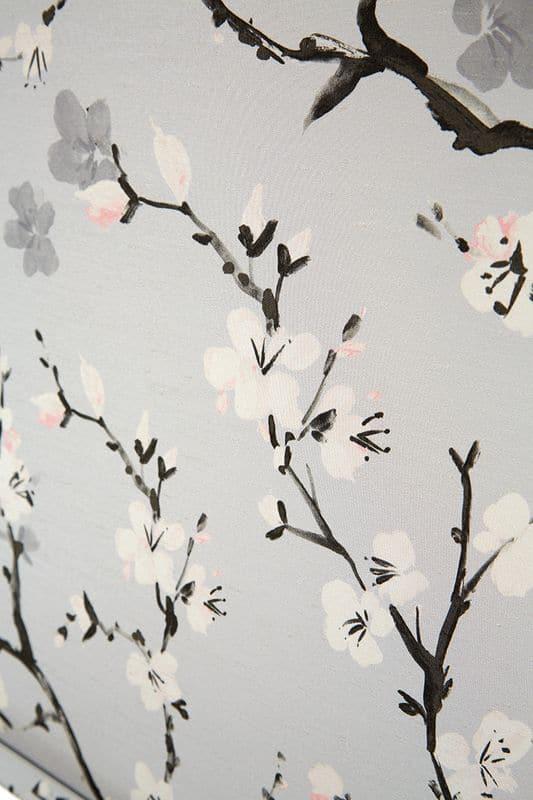 Cherry Blossom Serenity Satin Cass Liv Fabric 2