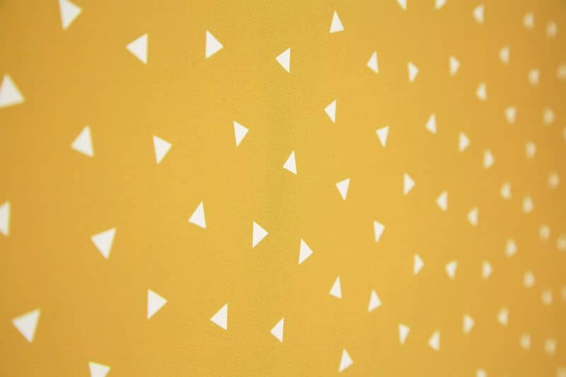 Pico Mustard 70mm Dine Fabric