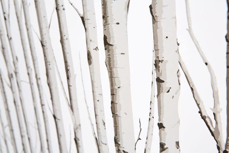 Woodland Silver Birch Fabric 1