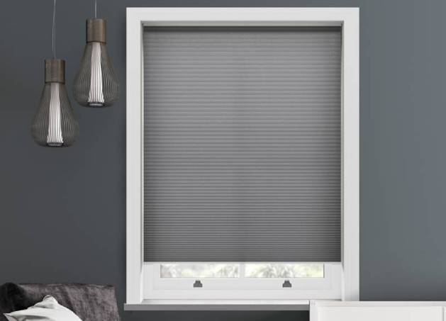 lexington grey thermal pleated free hanging blind lifestyle 3